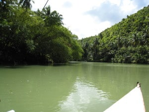River in Bohol Philippines, travelling